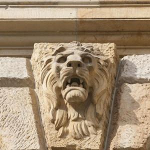Leeuwenkop aan voorm. Reichsgericht